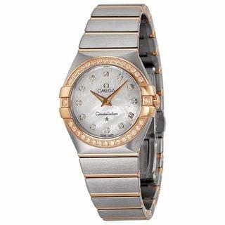 Omega Women's 12325276055001 Constellation White MOP Watch