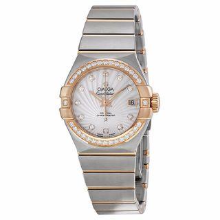 Omega Women's 12325272055001 Constellation White MOP Watch