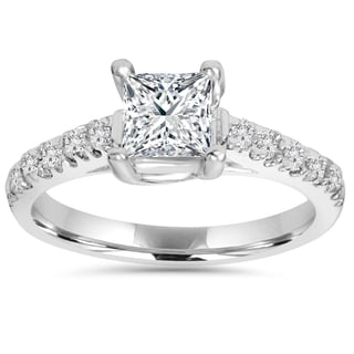 14k White Gold 1 1/4ct TDW Diamond Clarity Enhanced Engagement Diamond Ring (I-J,I2-I3)