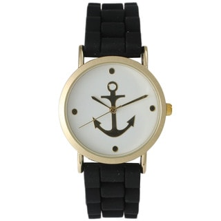 Olivia Pratt Women's Silicone Anchor Emblem Watch