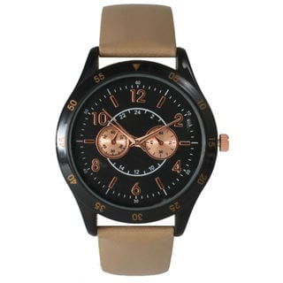 Olivia Pratt Women's Oversized Leather Boyfriend Watch