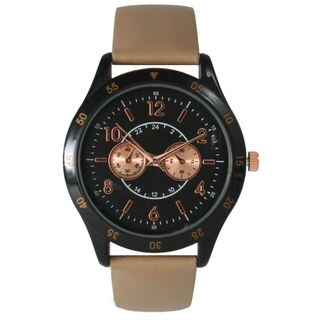Olivia Pratt Women's Oversized Leather Boyfriend Watch