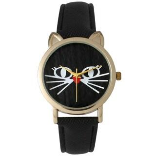 Olivia Pratt Classy Cat Leather Watch