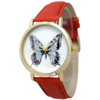 Olivia Pratt Leather Butterfly Watch