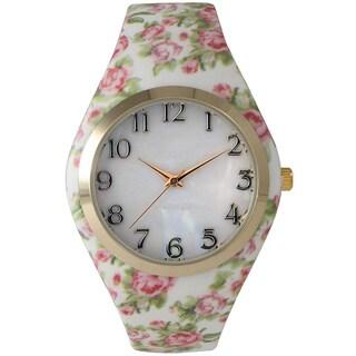 Olivia Pratt Silicone Floral Watch
