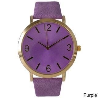 Olivia Pratt Classic Elegance Leather Watch (Option: Purple)