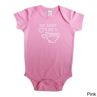 "Rocket Bug ""My Aunt Loves Me A Latte"" Baby Bodysuit (4 options available)"