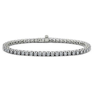 Suzy Levian 14k White Gold 2.5ct TDW Diamond Tennis Bracelet