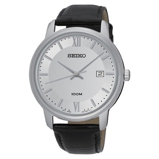 Seiko Men's SUR201 Stainless Steel SilverTone with a Silver Dial and a Date Window at 3:00 O'clock Watch