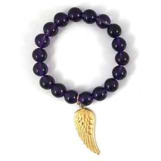 Terra Charmed Amethyst Beaded Bracelet