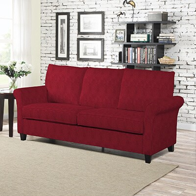 Shop Better Living Red Suede Rockford Sofa - Free Shipping Today ...