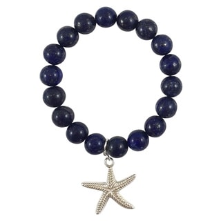 Terra Charmed Lapis Beaded Bracelet with Starfish Charm