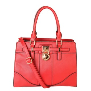 Rimen & Co. Saffiano Faux Leather Lock Handbag