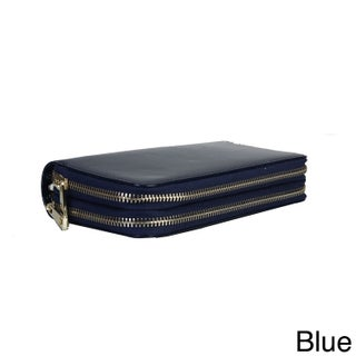 Diophy Faux Leather Triple Compartment Wallet (Option: Blue)