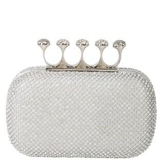 Rimen & Co. Rhinestone Crystal Ring Knuckle Wedding Clutch|https://ak1.ostkcdn.com/images/products/11166269/P18161237.jpg?_ostk_perf_=percv&impolicy=medium