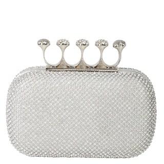 Rimen & Co. Rhinestone Crystal Ring Knuckle Wedding Clutch|https://ak1.ostkcdn.com/images/products/11166269/P18161237.jpg?impolicy=medium
