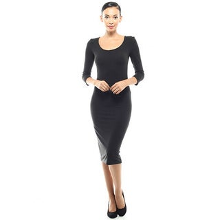 JED Women's 3/4-Length Sleeve Bodycon Midi Dress