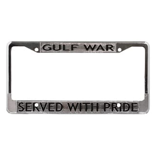 Gulf War Veteran License Plate Frame