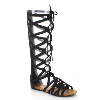Beston Women's Back Zip Gladiator Sandals