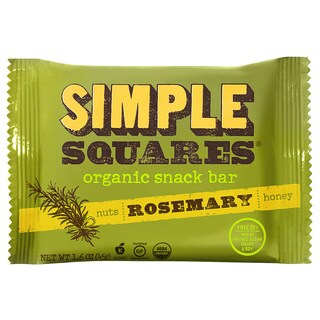 Simple Squares Organic Rosemary Nutrition Bars (Pack of 12)