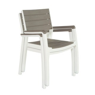Keter Harmony Cappuccino Outdoor Patio Armchair (Set of 2)