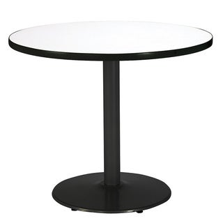 30-inch Round Pedestal Table with Round Black Base