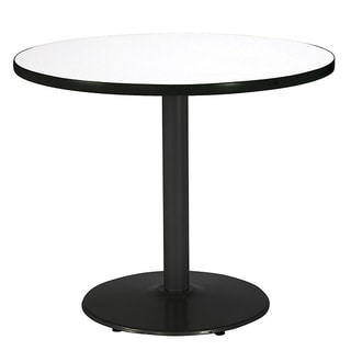 36-inch Round Pedestal Table with Round Black Base