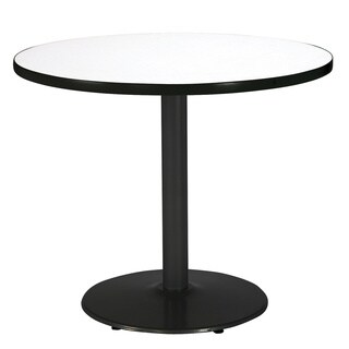 KFI Seating 42in Round Pedestal Table with Round Black Base