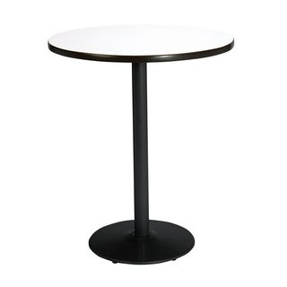 30-inch Round Bistro Height Pedestal Table with Round Black Base
