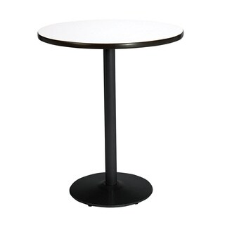 KFI Seating 36in Round Bistro Height Pedestal Table with Round Black Base