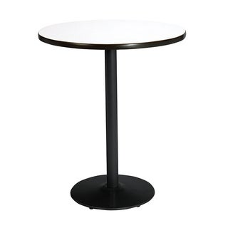 KFI Seating 42in Round Bistro Height Pedestal Table with Round Black Base