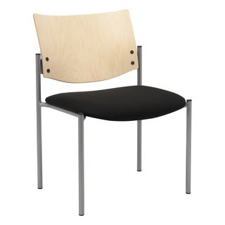 Evolve Guest Chair Armless with a Natural Wood Back