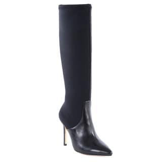 Halston Heritage Melissa Leather/ Lycra Stretch Knee Boot