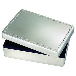 Elegance Nickel Plated Rectangular Jewelry Box