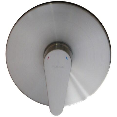 PULSE ShowerSpas Brushed Nickel Pressure-balance 1/2-inch Rough-in Valve Trim Kit