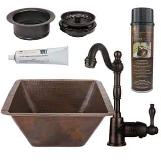 Premier Copper Products BSP4_BS17DB-G Bar/ Prep Sink, Faucet and Accessories Package|https://ak1.ostkcdn.com/images/products/11166823/P18161729.jpg?impolicy=medium
