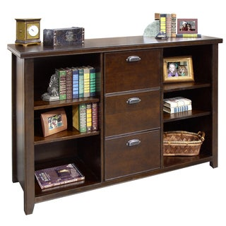 Tansley Landing Cherry 3 Drawer File/ Bookcase