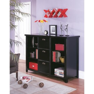 Tansley Landing Black 3 Drawer File Cabinet/ Bookcase