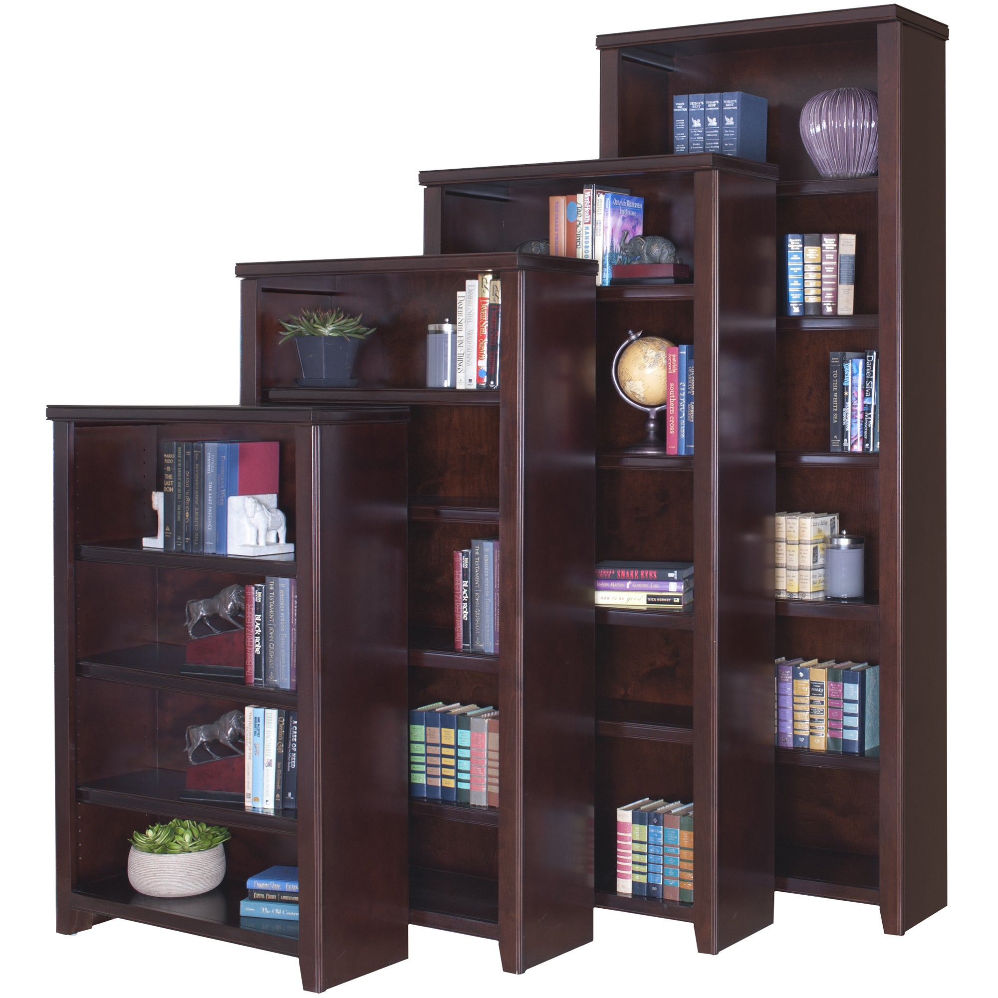 Martin Tansley Landing Cherry Bookcase (48 in. Tall), Brown
