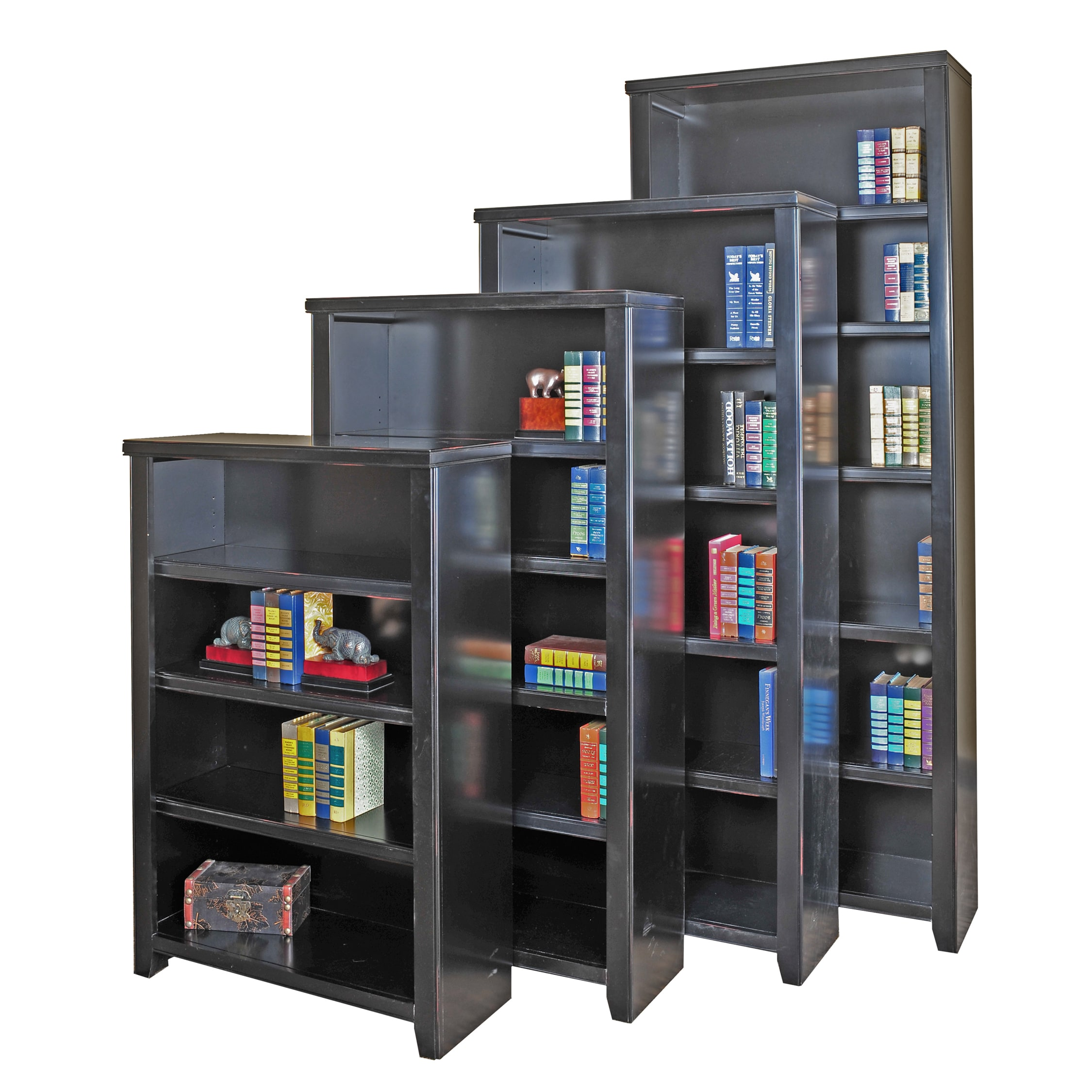 Martin Tansley Landing Black Bookcase (70 in. Tall)