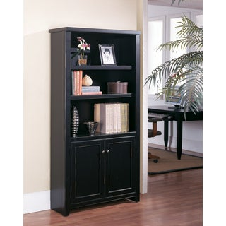 Tansley Landing Black Library Bookcase