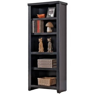 Tansley Landing Black Small Bookcase