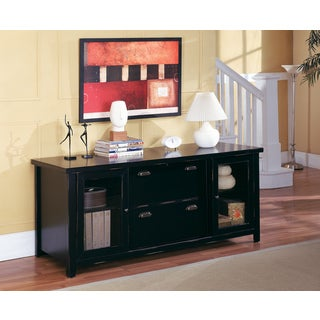 Tansley Landing Black Storage Credenza