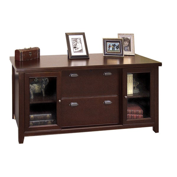 Genial Tansley Landing Cherry Storage Credenza With Sliding Doors