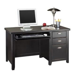 Tansley Landing Black Single Pedestal Desk