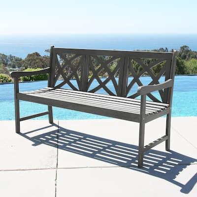 Surfside 5-foot Outdoor Hand-scraped Hardwood Garden Bench by Havenside Home
