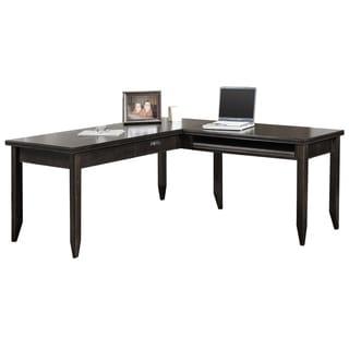 Tansley Landing Black L-shaped Writing Desk