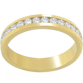 18k Yellow Gold 1/2ct TDW Round-cut Diamond Channel Band