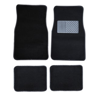 4-piece Black Carpet Car Mat