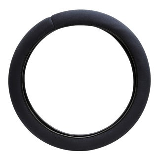 Fit 15-inch Black Memory Foam Steering Wheel Cover